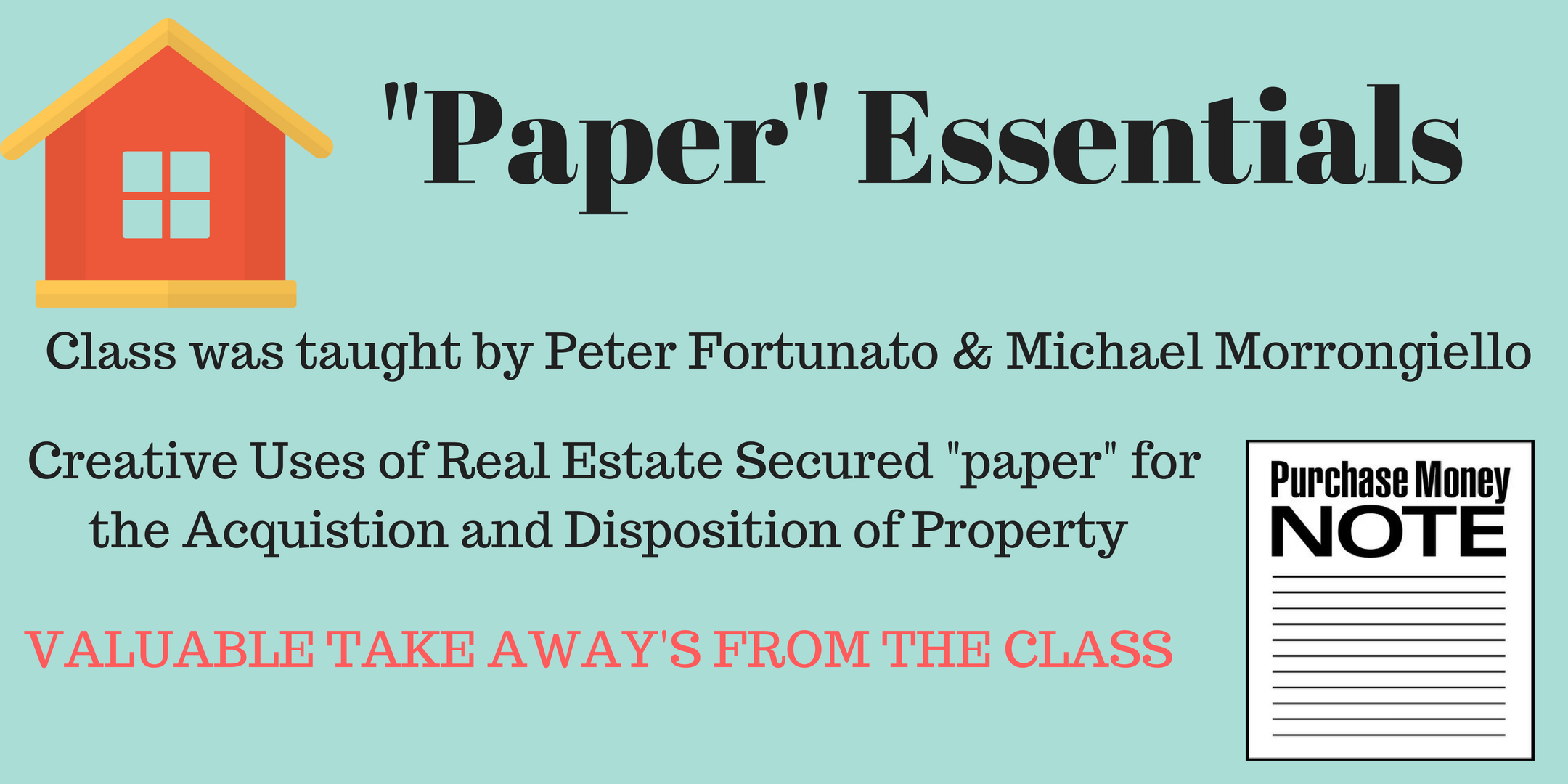 Bawb what youve missed valuable take aways and discussion from the recent paper essentials full day workshop taught by master dealmaker peter fortunato along with michael fandeluxe Images